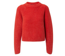 Grobstrick-Cashmere-Pullover 'Adele' Rot
