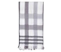 Schal mit Glitzerdetails Weiß/ Grau