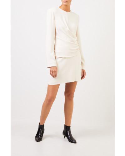 Kleid mit Raffung Crème