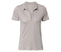 T-Shirt 'Polo' Taupeméliert