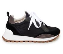 Sneaker aus Materialmix mit Monili-Detail