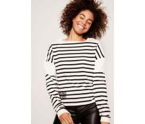 Streifen-Shirt Weiß/Schwarz