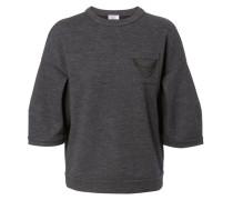 Cashmere-Shirt mit Verzierung Grau Mélange