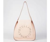 Schultertasche 'Hobo Bag Logo' Powder