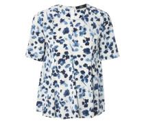Bluse mit Blütenprint Weiß/Blau