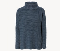 Grobstrick-Cashmere-Pullover 'Marley' Titan