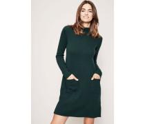 Cashmere Strickkleid mit aufgesetzten Taschen Grün