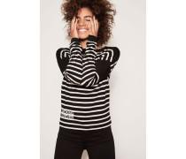 Streifen-Shirt Schwarz/Weiß