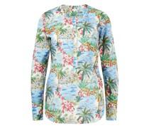 Baumwoll-Bluse mit Print