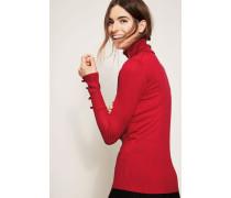 Rollkragen-Pullover Rot