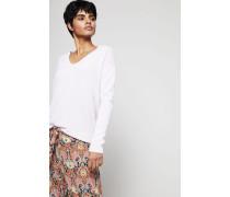 Klassischer V-Neck Cashmere-Pullover Rosé