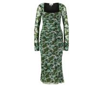 Mesh-Kleid mit Blumenprint
