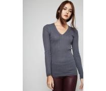 Leichter Cashmere-Pullover Grau