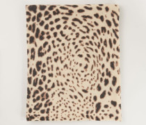 Cashmereschal mit Leo-Muster 'Jojo' Natur Jaguar