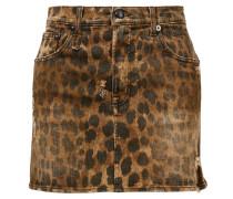 Baumwoll-Rock mit Leopardenmuster Multi