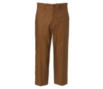 Weite Hose mit Bügelfalte Khaki
