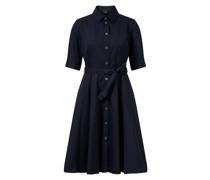 Baumwoll-Kleid Dunkelblau