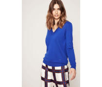 Cashmere-Pullover 'Marilyn' Blue Dahlia