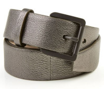 Gürtel aus strukturiertem Leder Bronze