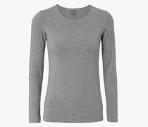 Basic Langarmshirt Grau