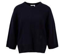 Cashmere-Pullover mit Rundhalsausschnitt Dunkelblau