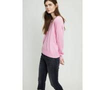 Oversized Cashmere V-Neck Pullover Pink
