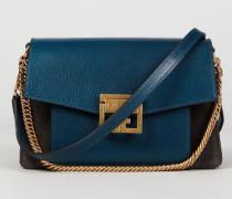 Schultertasche 'GV3 Small' mit Goldelementen Blue/Grey