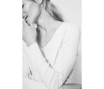 Longsleeve mit Perlenverzierung Grau