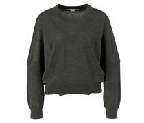 Woll-Pullover mit Rundhalsausschnitt Dunkelgrau