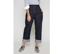 Jeans mit Saumumschlag Denimblau