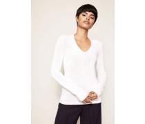 Grobstrick-Cashmere-Pullover 'Athena' Weiß
