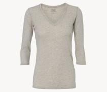 Basic Shirt mit 3/4-Ärmeln Grau