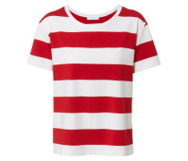 Gestreiftes T-Shirt Rot/Weiss