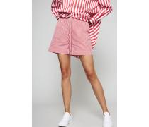 Gestreifte Shorts Rot/Weiß