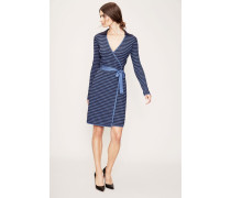 Wickelkleid 'Banded Knit Wrap Dress' Blau