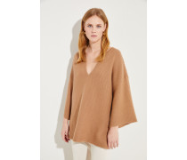 Oversize Woll-Cashmere-Pullover Caramel