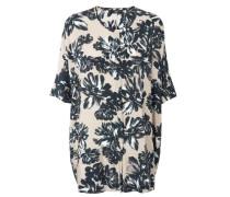 Weite Bluse mit floralem Print Multi