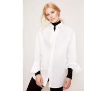 Oversize-Bluse 'Bela Soft Pop' Weiß