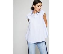 Gestreifte Ärmellose Bluse Weiß/Blau