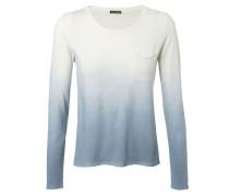 Leichter Pullover 'Emily' mit Farbverlauf Weiß/Blau