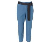 Hose mit Gürtelelement Blau