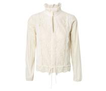 Bluse mit Spitzen-Details Off White
