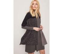 Strick-Kleid Grau