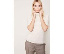 Kurzarm-Pullover mit Streifendesign 'Écru'
