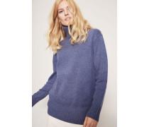 Cashmere-Pullover mit Rollkragen Blau