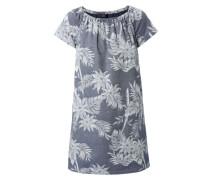 Kleid mit Flowerprint Grau