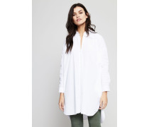 Hemdblusen-Kleid Weiß