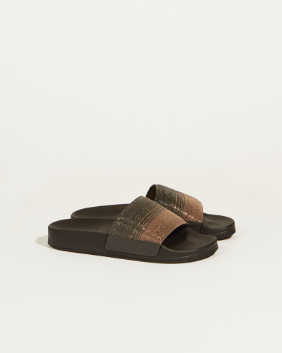 Sandale '?Precious Dégradé? mit Perlenverzierung Braun