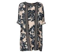 Weites Kleid mit floralem Print Multi