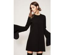 Kleid 'Preacher Flare Sleeve Dress' Schwarz